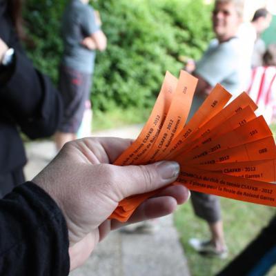 Les tickets de tombola